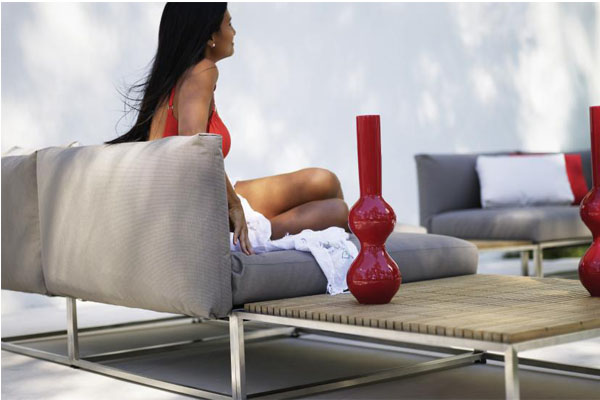 Gloster woven, aluminum, stainless steel and outdoor lounge
