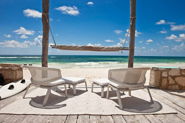 Janus Et Cie Outdoor Furniture Patio & Things | Dedon Seashell Collection: Armchair, Barstool, Beach ...