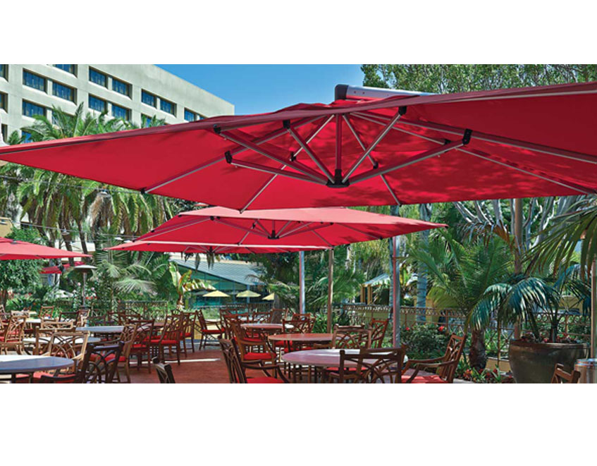 Janus Et Cie Outdoor Furniture line outdoor umbrellas, patio umbrellas, commercial parasols, outdoor ...