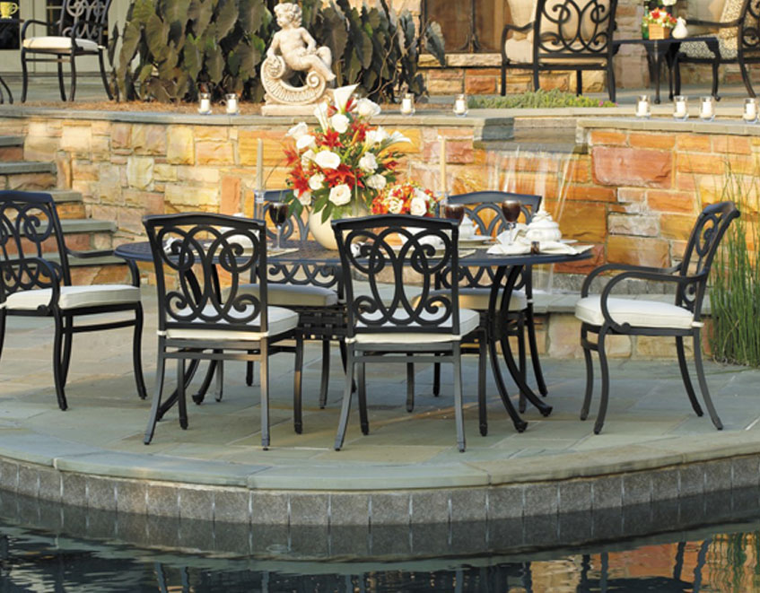 with tables pit outdoor furniture fire enjoy dining luxury patio