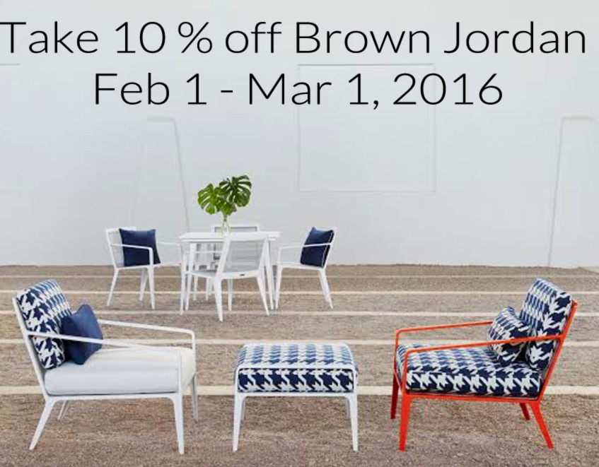 Patio Amp Things Take 10 Off Brown Jordan Feb 1 Mar 1 2016