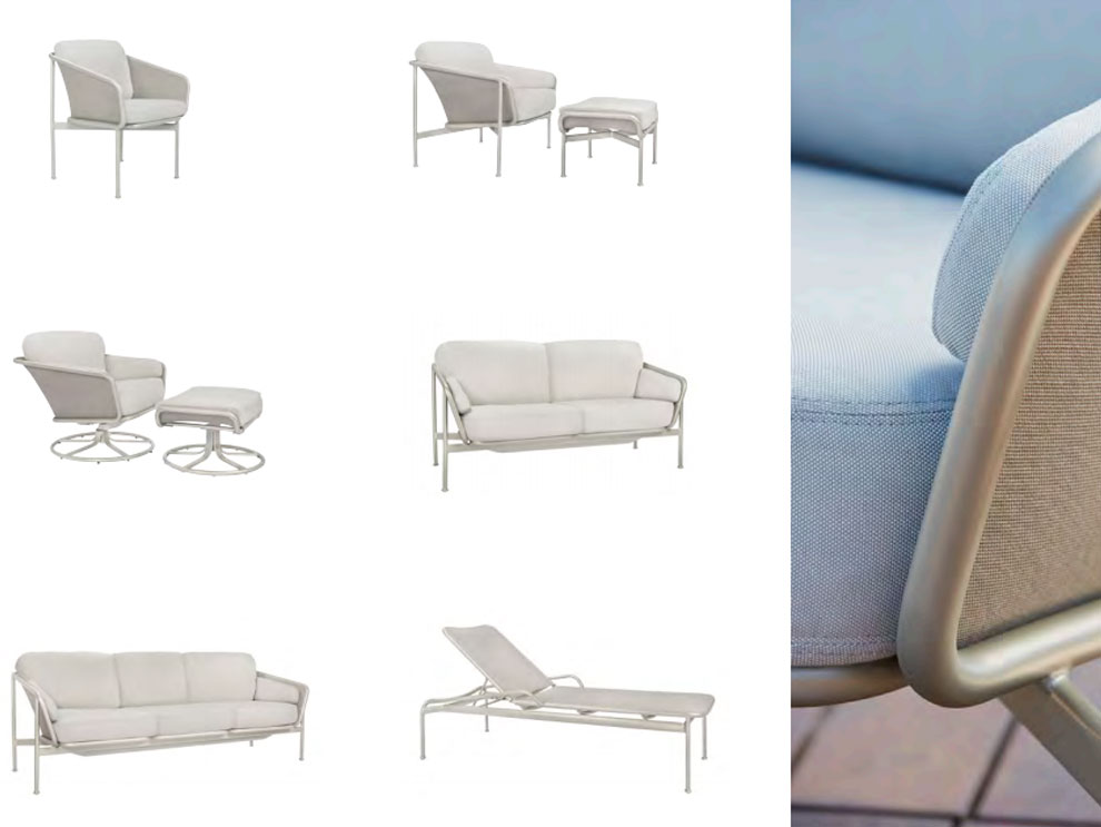 Patio things verge collection by brown jordan includes for Brown and jordan chaise lounge