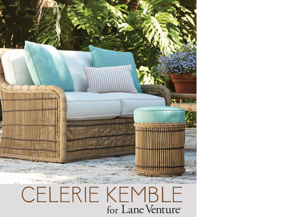... Classic Line Of Outdoor Furniture That Captures The Ease, Timelessness,  And Whimsicality Of Palm Beach U2013 Celerie Kemble For Lane Venture.