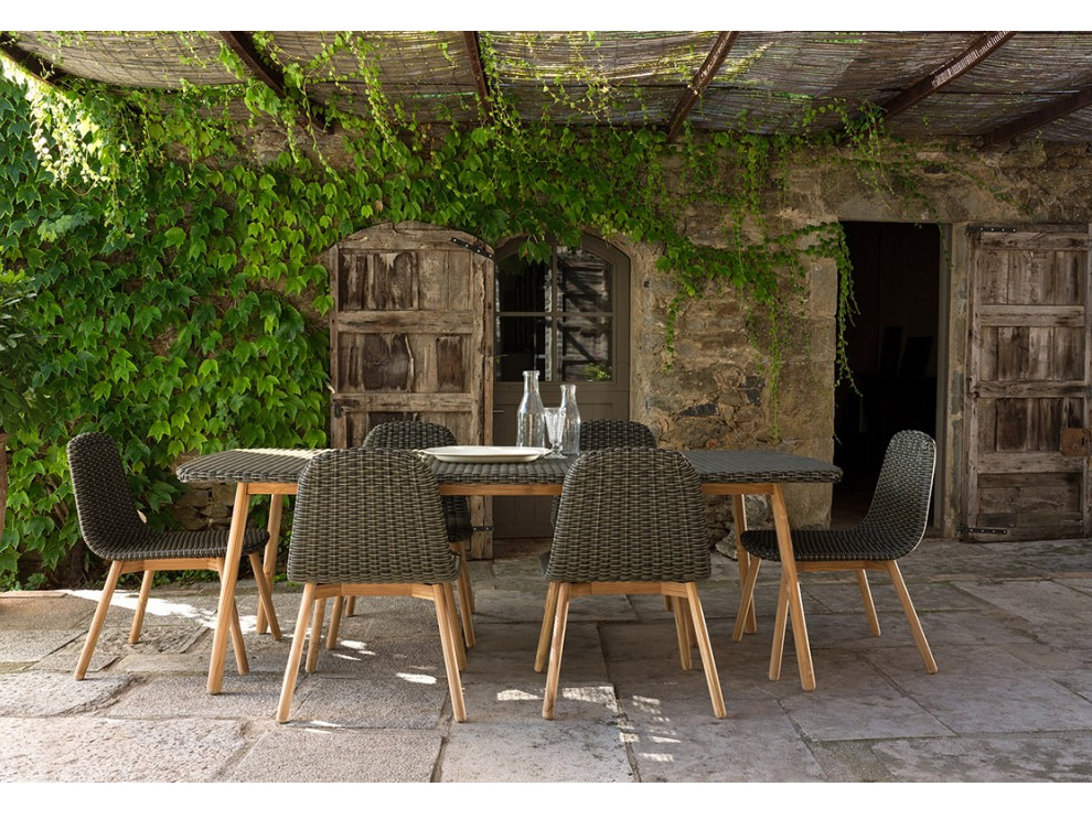The Roind Patio Furniture Sees Are In 2 Tones Of Grey And Multicolour: A  Mix Of Gris And Beige.