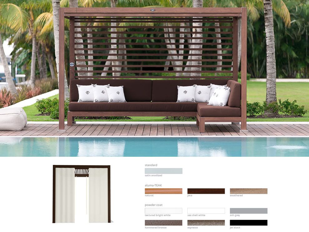 Equinox Cabana Tuuci Patio  Poolside Or Outdoor Landscape Open Air Living Rooms Miami D