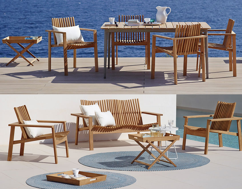 Cane Line Amaze Outdoor Garden Lounge Sun Chairs